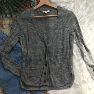 Madewell • Button Down Gray Cardigan Sweater